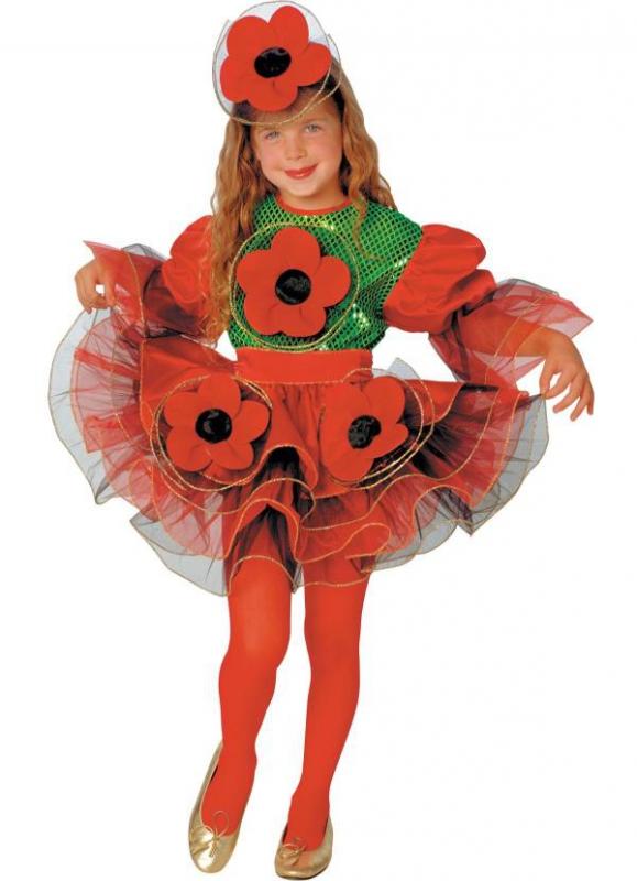Kostýmy - Dívčí kostým Maková panenka