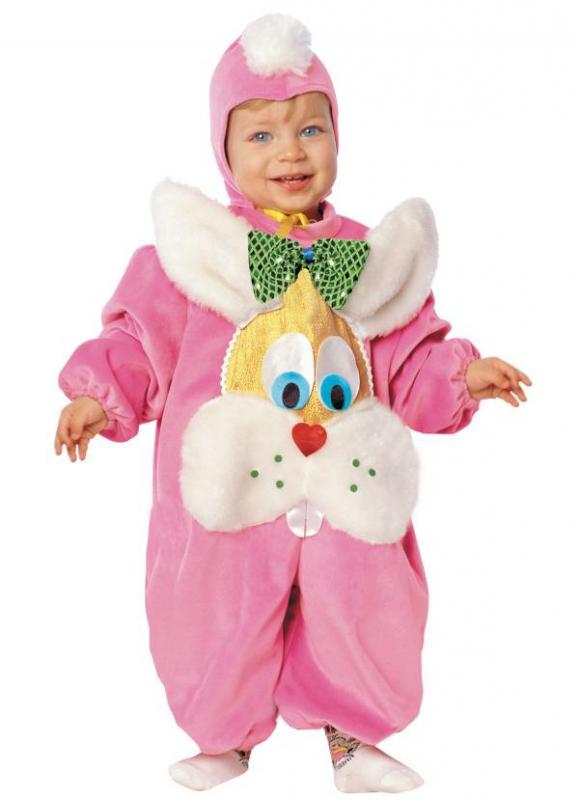 Kostýmy - Dětský kostým Zajíček růžový