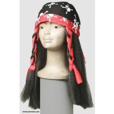 Šátek s vlasy Pirátka