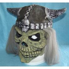 Maska s vlasy Vikingská lebka