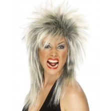Paruka Rock Diva blond/černá