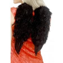 Křídla péřová černá 30 x 40 cm