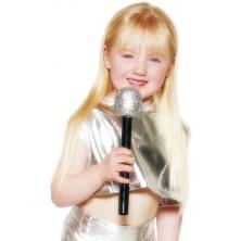 Mikrofon 25 cm stříbrný