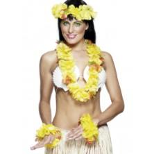 Havajská sada žlutá