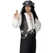 Pirátská sada vesta, čepice a opasek