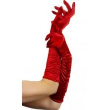 Rukavice nařasené červené