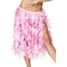 Havajská sukně růžové lístky