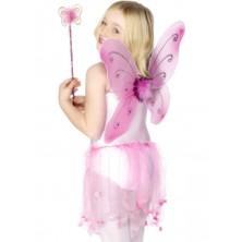 Dětská křídla a hůlka růžová