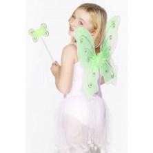 Dětská křídla a hůlka zelená
