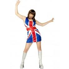 Dámský kostým Britská vlajka
