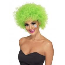 Paruka Funky Afro zelená pro dospělé