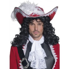 Klobouk Pirátský kapitán červený