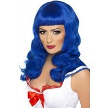 Dámská paruka California girl modrá