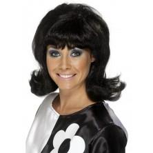 Dámská paruka 60s Flick-Up černá