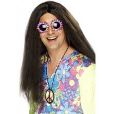 Paruka Hippy hnědá