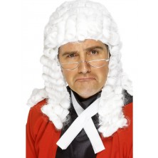 Paruka Soudce Bílá