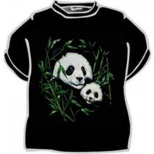 Tričko Panda s mládětem