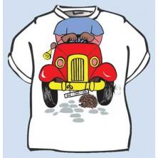 Dětské tričko Autíčko ke krku