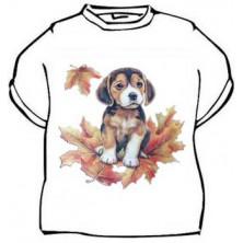 Dětské tričko Pejsek na listí