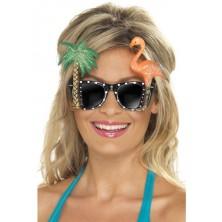 Brýle s palmou a plameňákem
