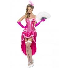 Dámský kostým Burlesque Dancer růžová