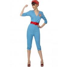 Dámský kostým Retro zaměstnankyně továrny