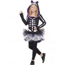 Dívčí kostým Kostlivka kočka
