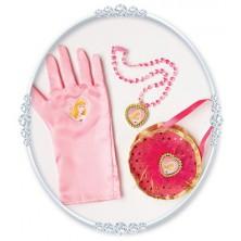 Kabelka, náhrdelník a rukavice Růženka