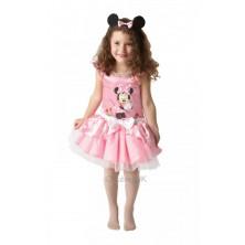 Dívčí kostým Minie Mouse balerína růžová