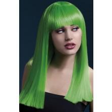 Dámská paruka Alexia neonová zelená