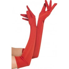 Rukavice dlouhé červené
