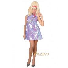 Dámský kostým 60. léta fialová