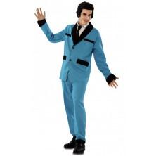 Pánský kostým Rockabilly modrý