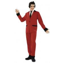 Pánský kostým Rockabilly červený