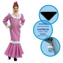 Dětský kostým Madridská dívka růžová