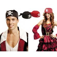 Pirátský šátek červený