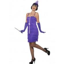 Kostým Charleston krátké šaty fialové
