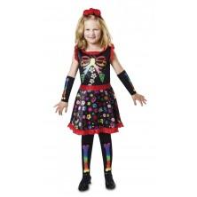 Dětský kostým Veselá kostlivka