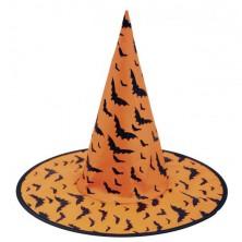 Čarodějnický klobouk černý s lebkami - Levný karneval b775e8a703