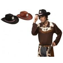 Klobouk Sherif černý