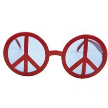 Brýle Peace symbol červené