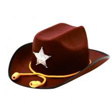 Klobouk Sheriff se šňůrkou