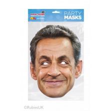 Papírová maska Nicolas Sarkozy