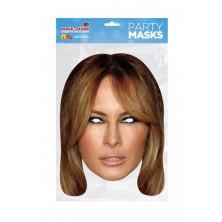 Papírová maska Melania Trumpová