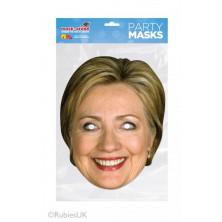 Papírová maska Hillary Clintonová