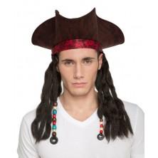 Klobouk Pirát s dredy