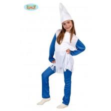Dětský karnevalový kostým Šmoulinka