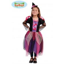 Dětský kostým čarodějnice s kloboukem
