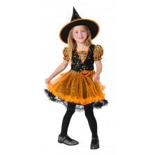 Dětský kostým Dýňová čarodějnice