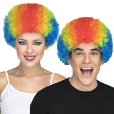Paruka Kudrnatá barevná pro dospělé